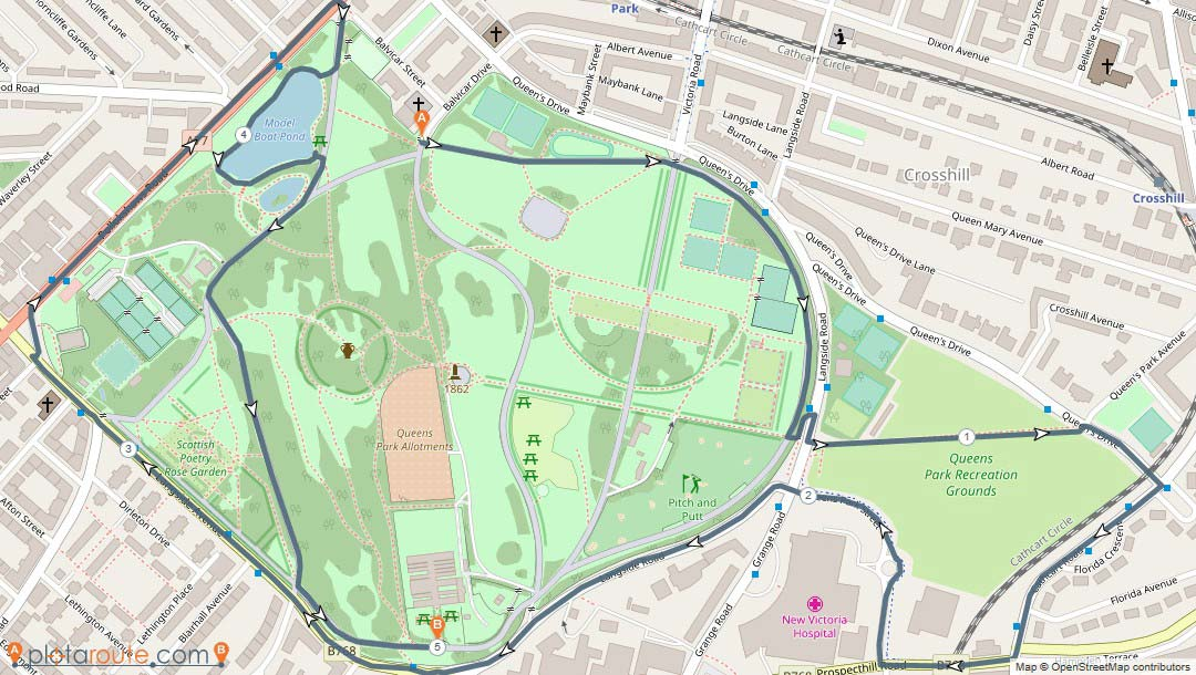 Queen's Park and Recreation Ground 5k