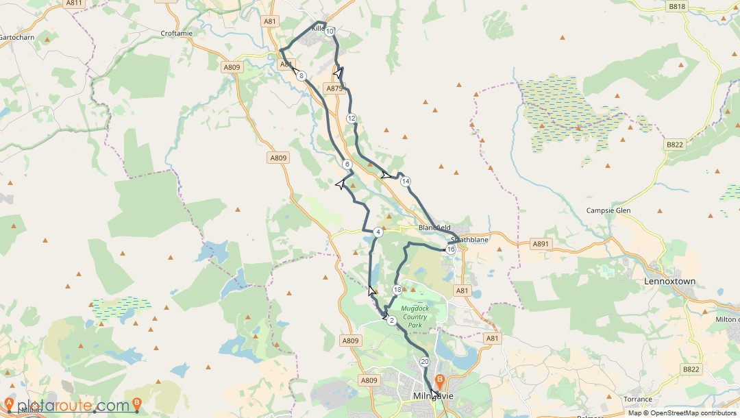 21 mile loop of West Highland Way to Killearn