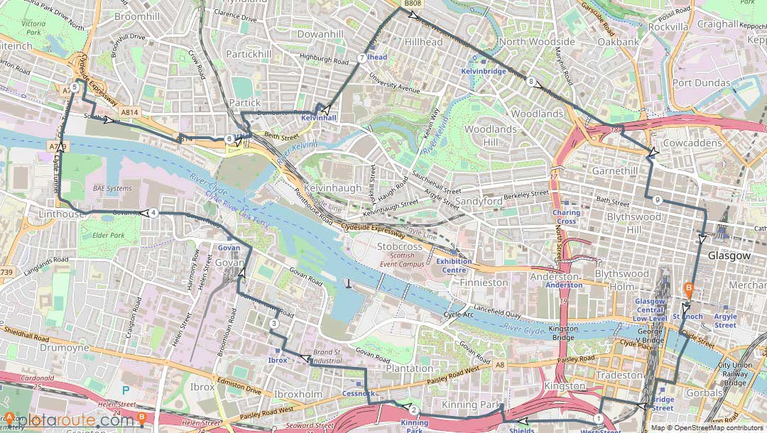 Glasgow Subrun Map